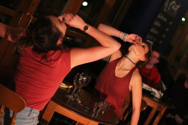 'Top Me Up' performance at Drunken Nights event by Drunken Chorus. Photography by Sheena Holiday
