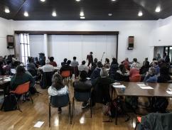 performance & workshop at conversation club, sheffield
