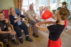 performance & workshop in a Norfolk care home with Spiltmilk Dance