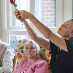 Love themed performances in care homes, Spiltmilk Dance