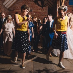 The Swing Twins performance & workshop at a wedding